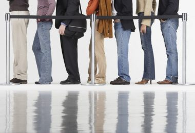 Waiting in Line --- Image by © Royalty-Free/Corbis